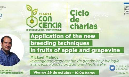 """¡Nueva charla! """"Application of NBTs in fruits of apple and grapevine"""" 🌿"""